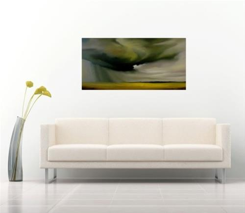 """Rain Over Canola Field"" original fine art by ~ces~ Christine E. S. Code"