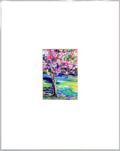 """6019 - RUBY HUMMINGBIRD ACEO"" original fine art by Sea Dean"