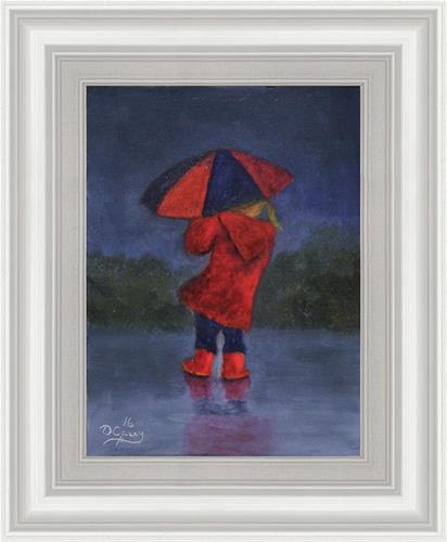"""Little Lady In Red"" original fine art by Dave Casey"