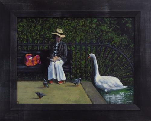 """The Conversation"" original fine art by Elizabeth Elgin"