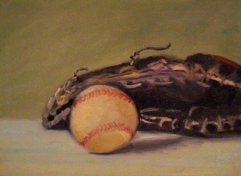 """Baseball and Glove"" original fine art by Judith Anderson"