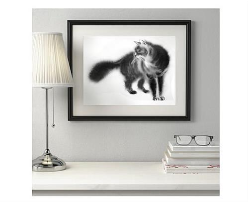"""Fluffy Cat"" original fine art by Olga Beliaeva"