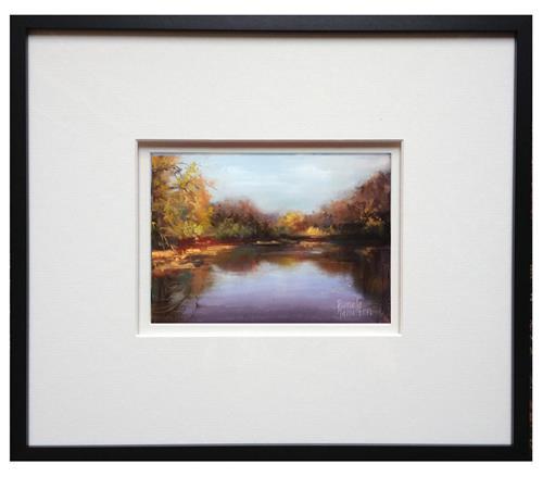 """""""Autumn Landscape"""" original fine art by Pamela Hamilton"""