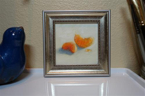 """Mandarin Orange Slices"" original fine art by Chrystale Files"