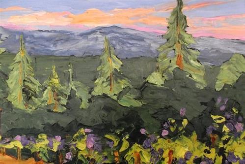 """""""California Vineyard Barns"""" original fine art by lynne french"""