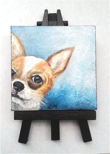 """""""Peek a Boo Chihuahua"""" original fine art by Camille Morgan"""