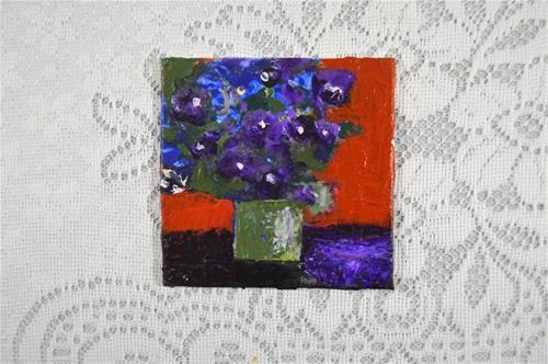 """Floral Series No 22"" original fine art by Katie Jeanne Wood"