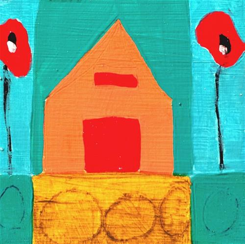 """Poppy Lane 4 House # 25"" original fine art by Christy Tremblay"