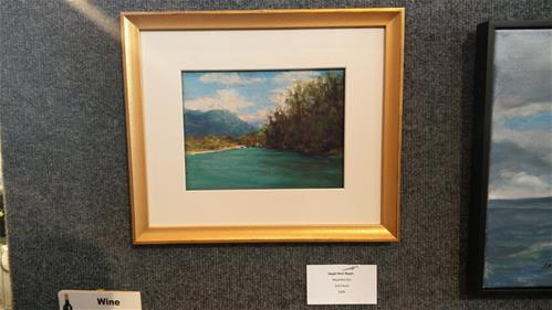 """Skagit River Beach"" original fine art by Alejandra Gos"