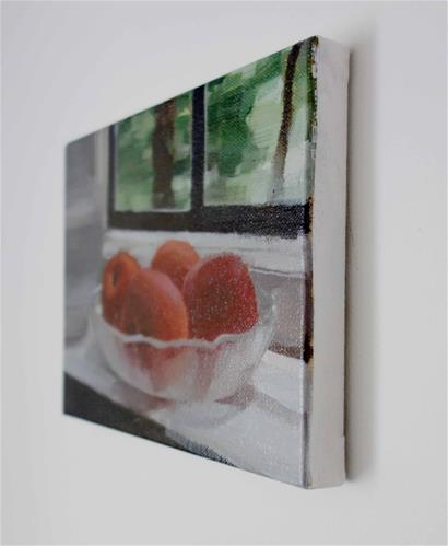 """Apricots on Sill (no.120)"" original fine art by Michael William"