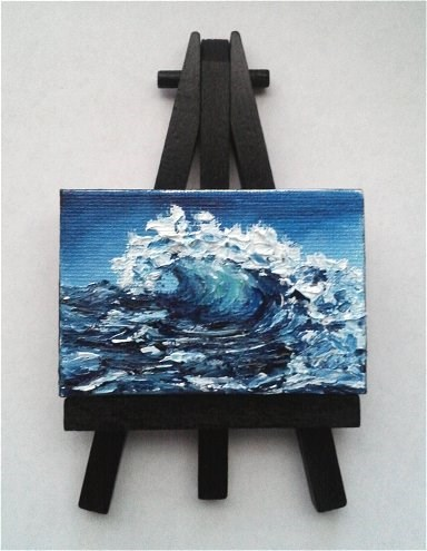 """Dark Wave"" original fine art by Camille Morgan"