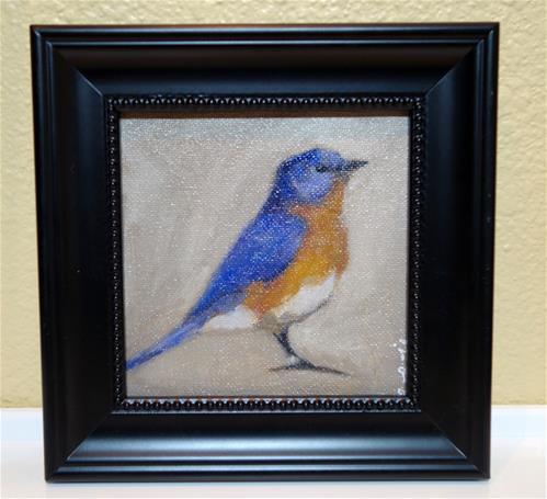 """Bluebird"" original fine art by Chrystale Files"