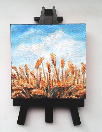 """Wheat Fields"" original fine art by Camille Morgan"