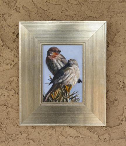 """Treetop Pair"" original fine art by Pamela Poll"