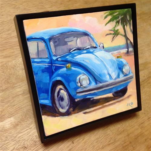 """Beach Bug"" original fine art by Jeanne Bruneau"