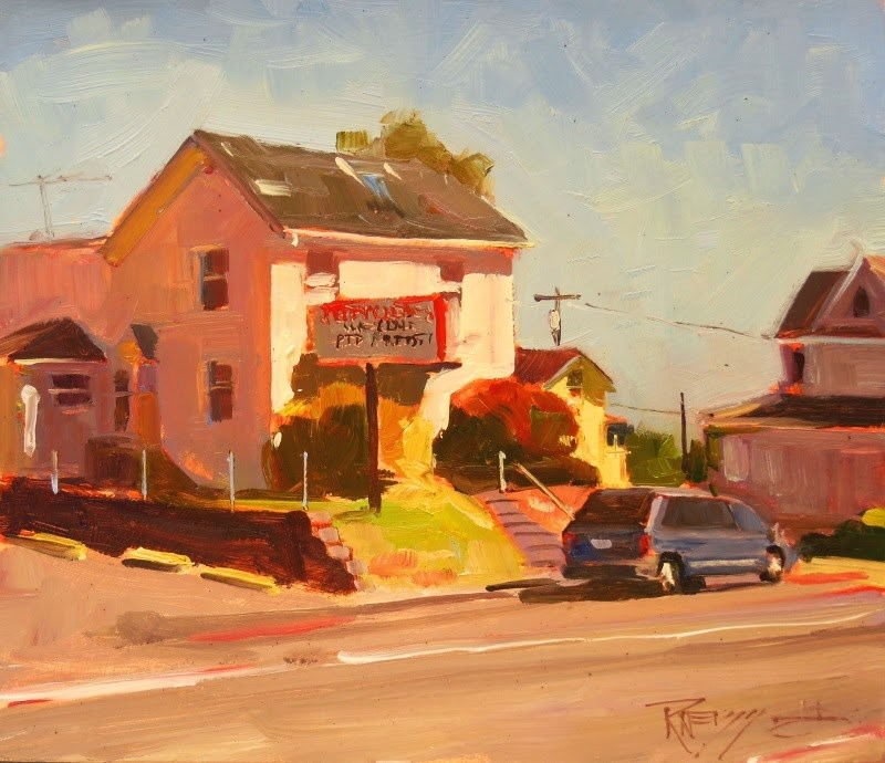 """""""Jiffy Cleaners Paint the Peninsula, plein air, oil painting by Robin Weiss"""" original fine art by Robin Weiss"""