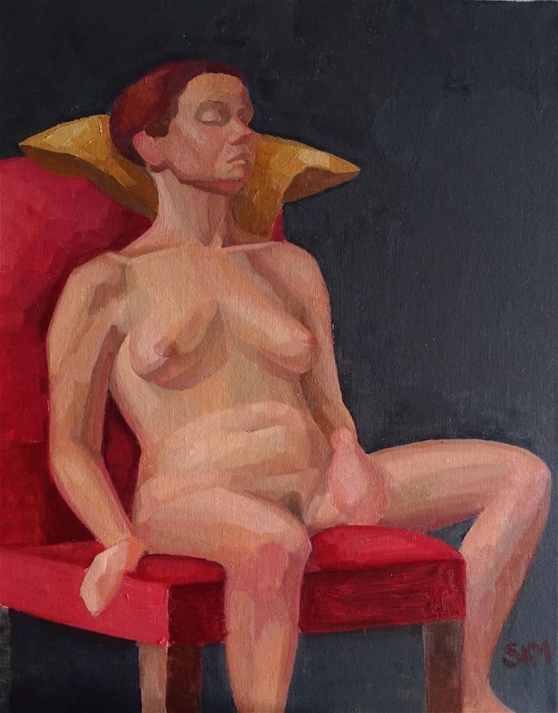 """sleeping model"" original fine art by Sarah Meredith"