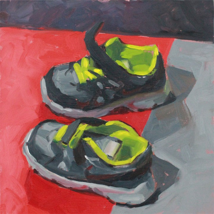 """Little Runners"" original fine art by Nealy May Riley"