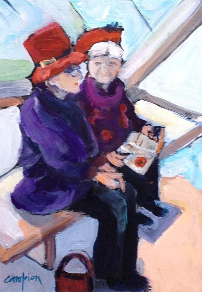 """""""Red Hats"""" original fine art by Diane Campion"""