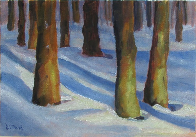 """Tree study"" original fine art by Christine Lewis"