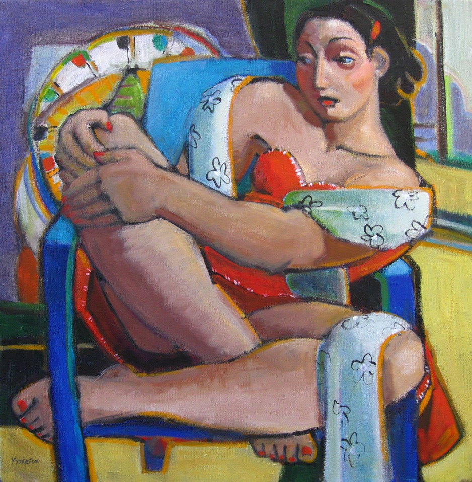 """Santa Monica Pier, Figurative Paintings of Women by California Contemporary Artist Marie Fox,"" original fine art by Marie Fox"