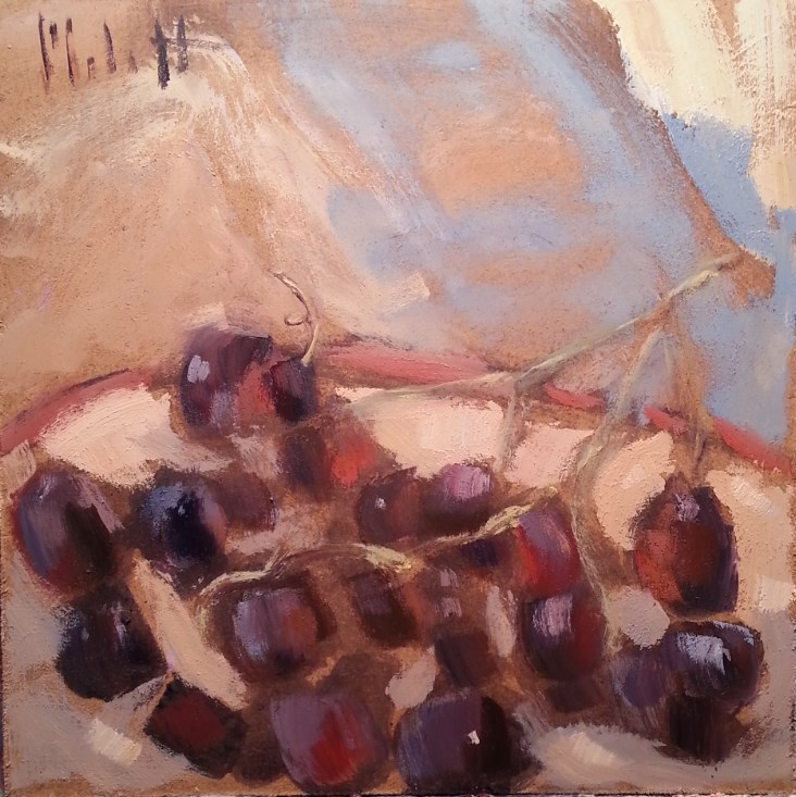 """Grapes Still Life Contemporary Impressionism Original Art"" original fine art by Heidi Malott"