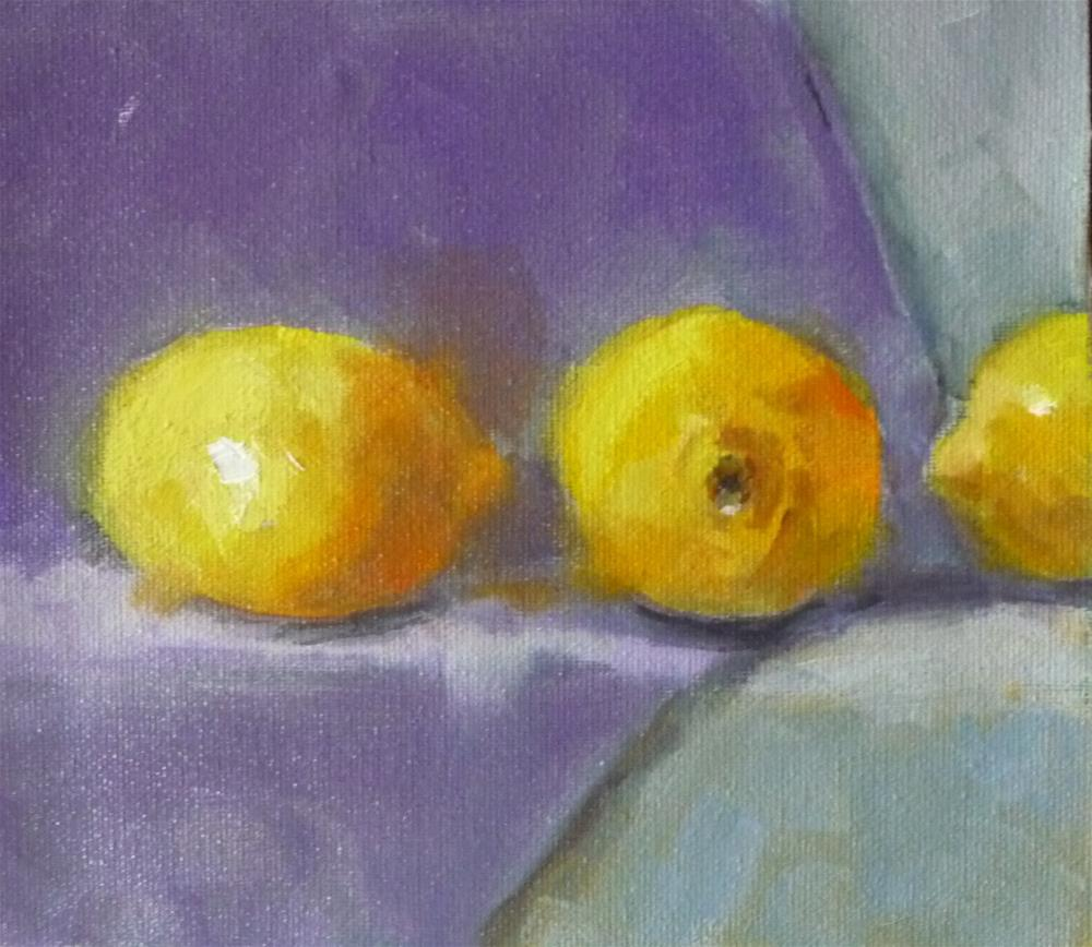 """Lemons are Purple Cloth"" original fine art by Carol Josefiak"