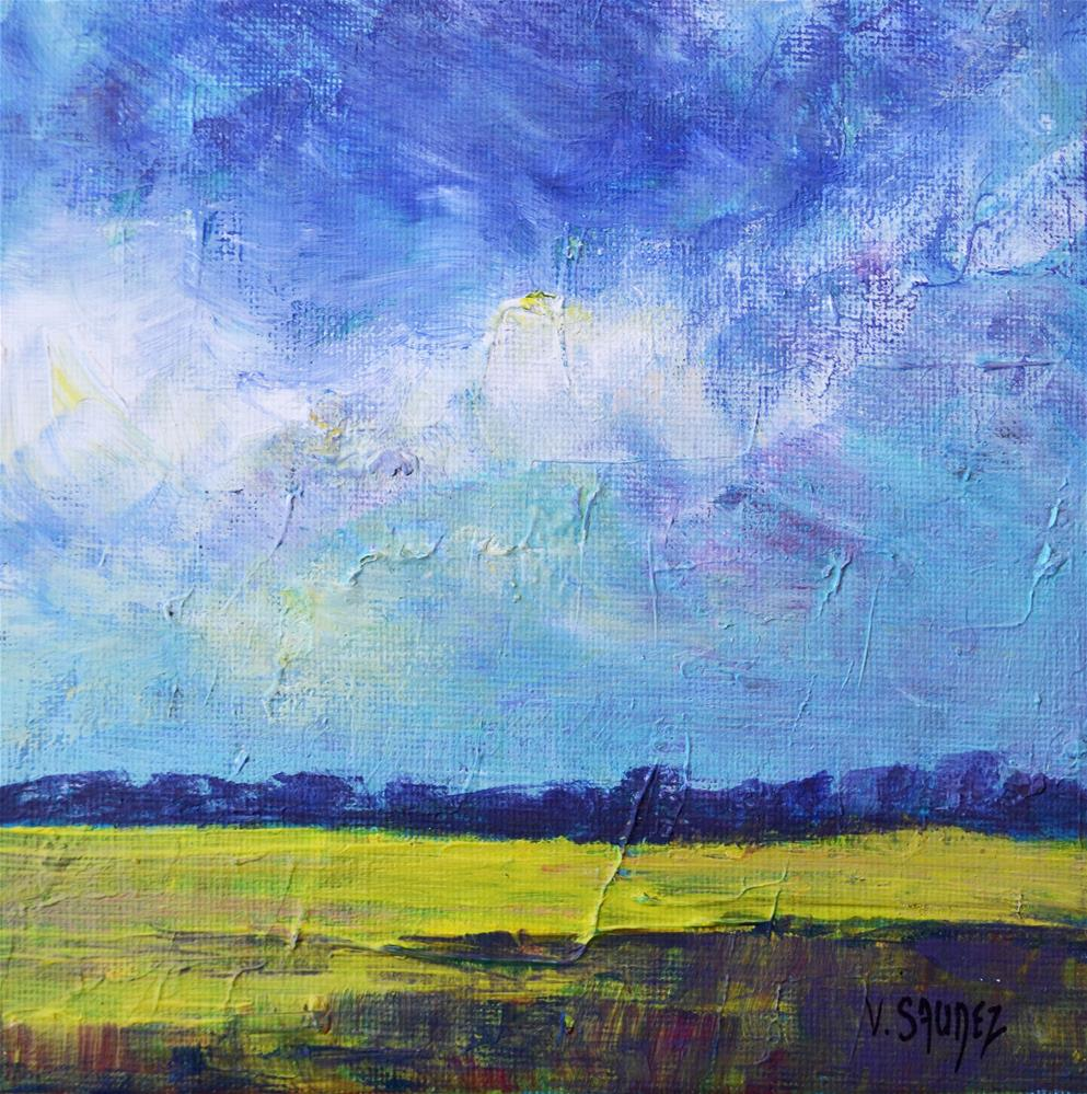 """The fields"" original fine art by Véronique Saudez"