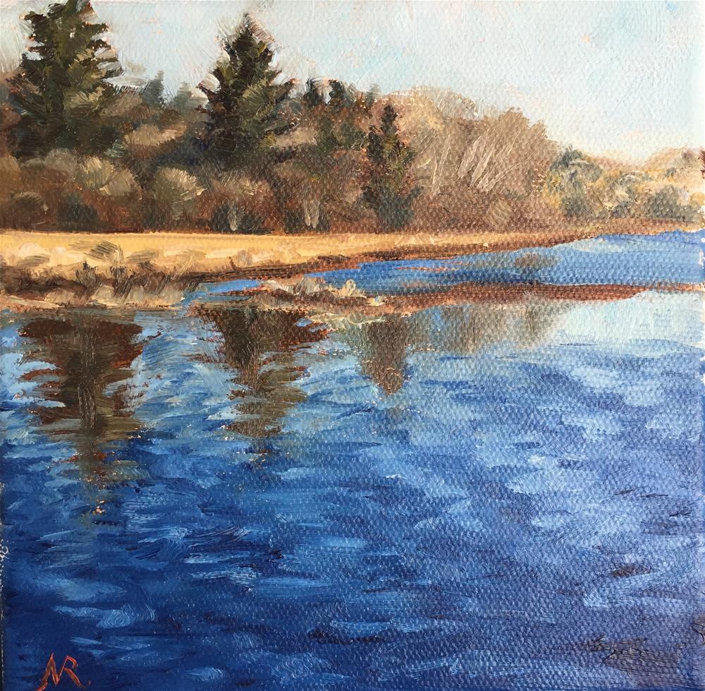 """Salmon river"" original fine art by Natasha Ramras"