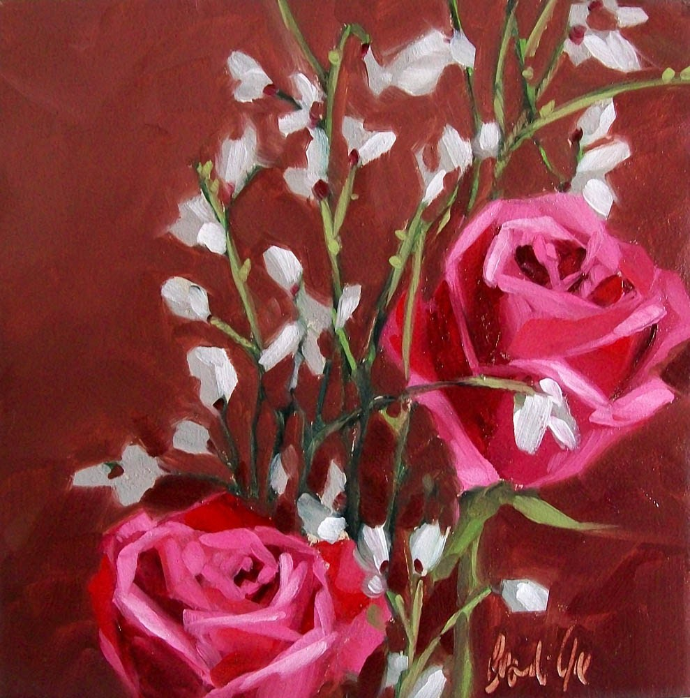 """Warm roses"" original fine art by Brandi Bowman"