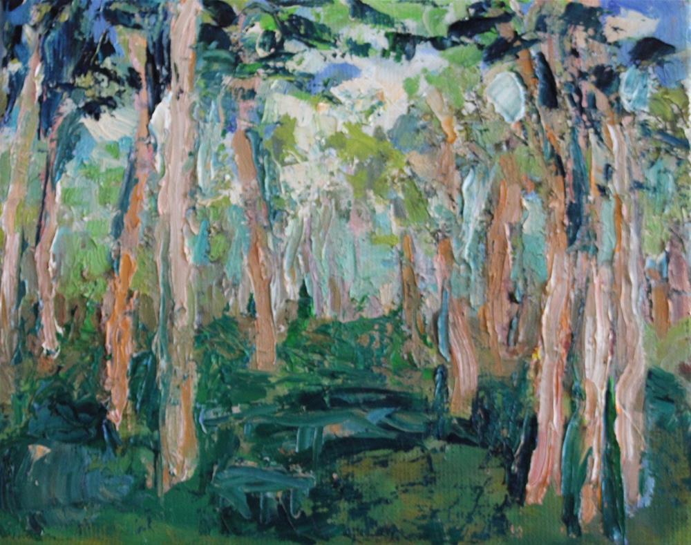 """Oil Landscape with Trees"" original fine art by Christine Parker"