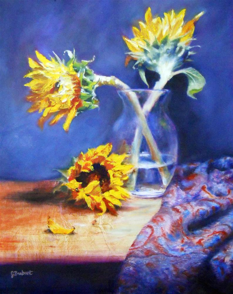 """Helen's Sunflowers"" original fine art by Jill Brabant"