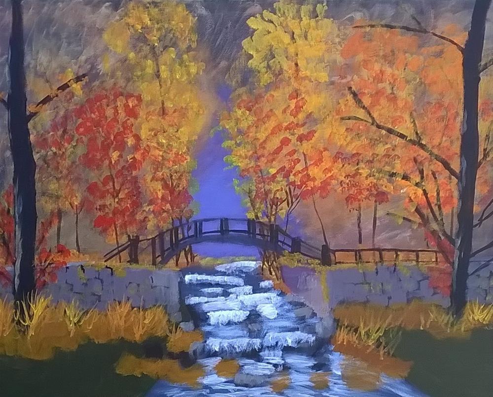 """Welcome Autumn"" original fine art by Cindy Jensen"