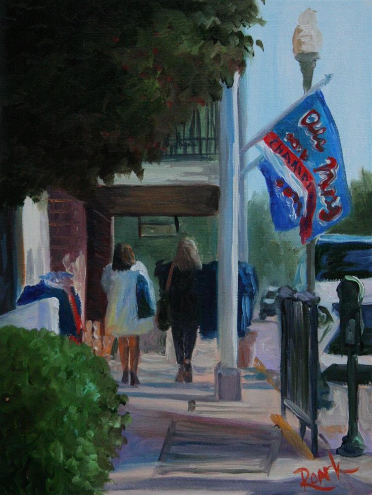 """Sashaying on the Square"" original fine art by Carol Roark"