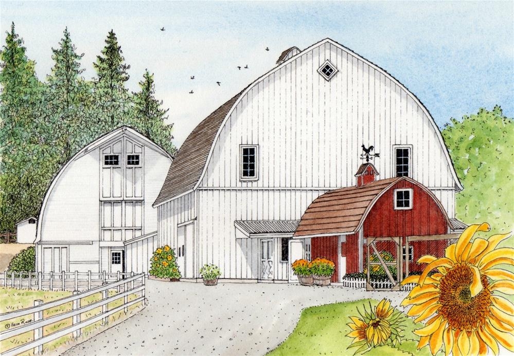 """Kelsey Creek Farm"" original fine art by Heidi Rose"