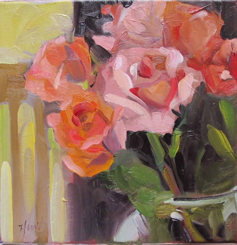 """Spring Bouquet"" original fine art by Linda Hunt"