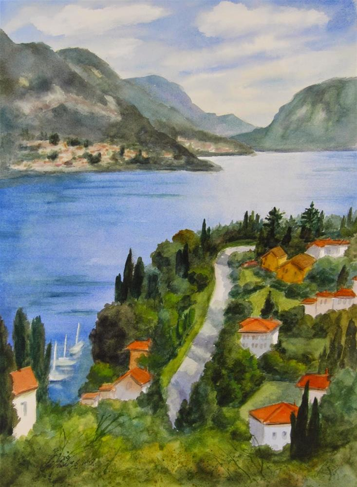 """Remembering Como"" original fine art by Pat Fiorello"