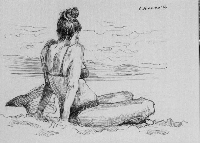 """hanasketching2"" original fine art by Katya Minkina"