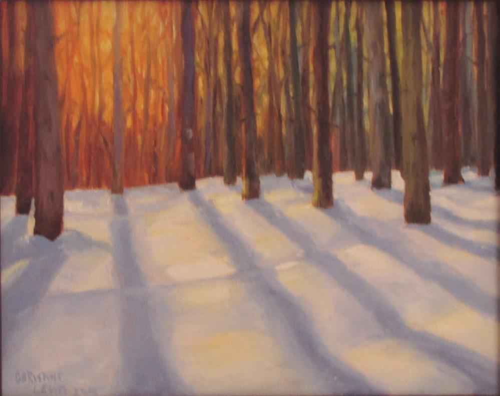 """Edge of the Snowy Woods"" original fine art by Christine Lewis"