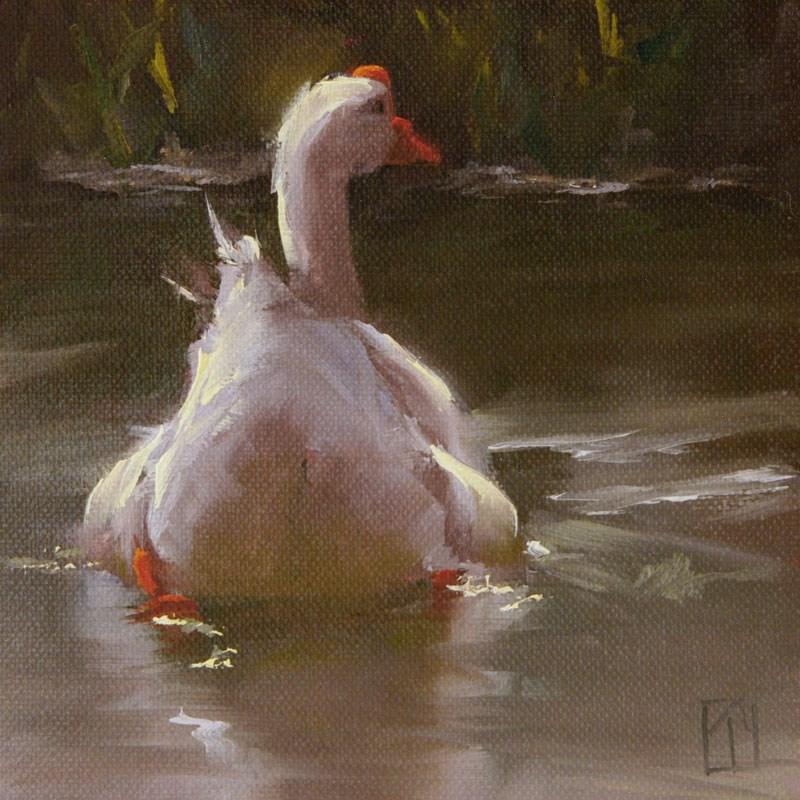 """Goose Study 4"" original fine art by Lori Twiggs"