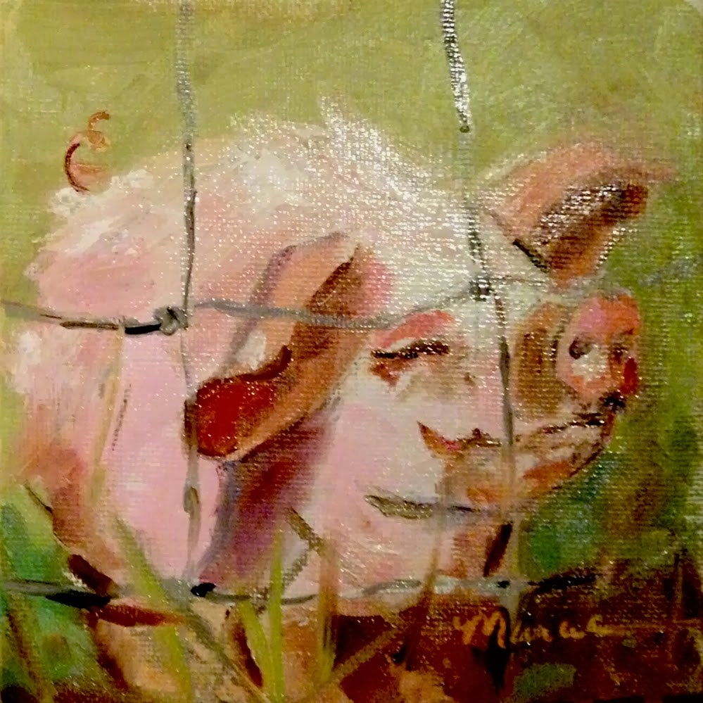 """Don't Fence Me In"" original fine art by Marcia Hodges"