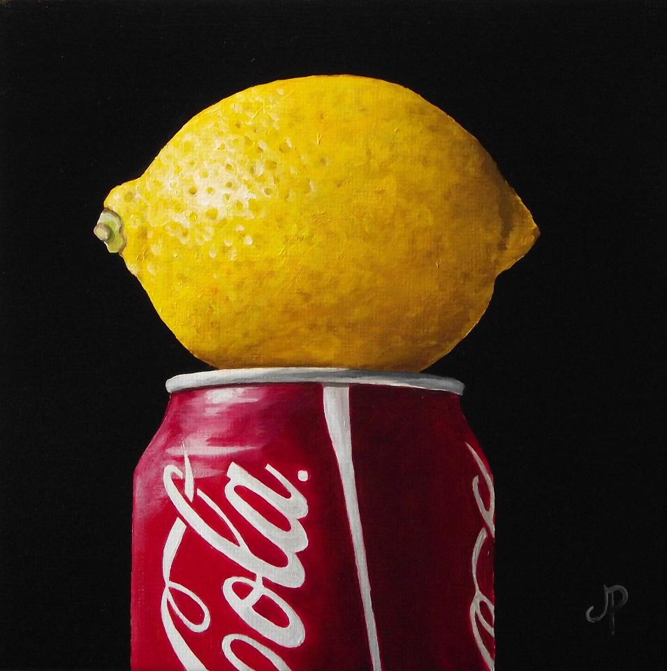 """Lemon Coke"" original fine art by Jane Palmer"
