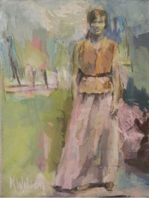 """""""Long Skirt"""" original fine art by Katie Wilson"""