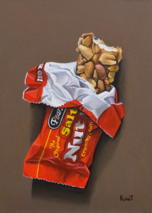 """Salted Nut Roll (Commission)"" original fine art by Kim Testone"