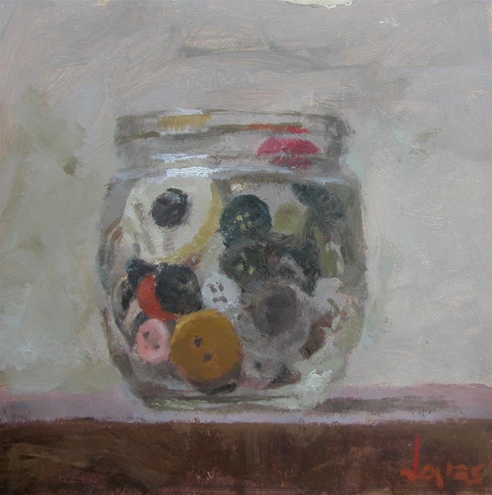 """Buttons in a Jar"" original fine art by Richard Jones"