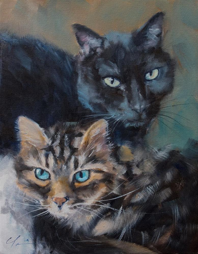 """Chloe and Milton"" original fine art by Clair Hartmann"