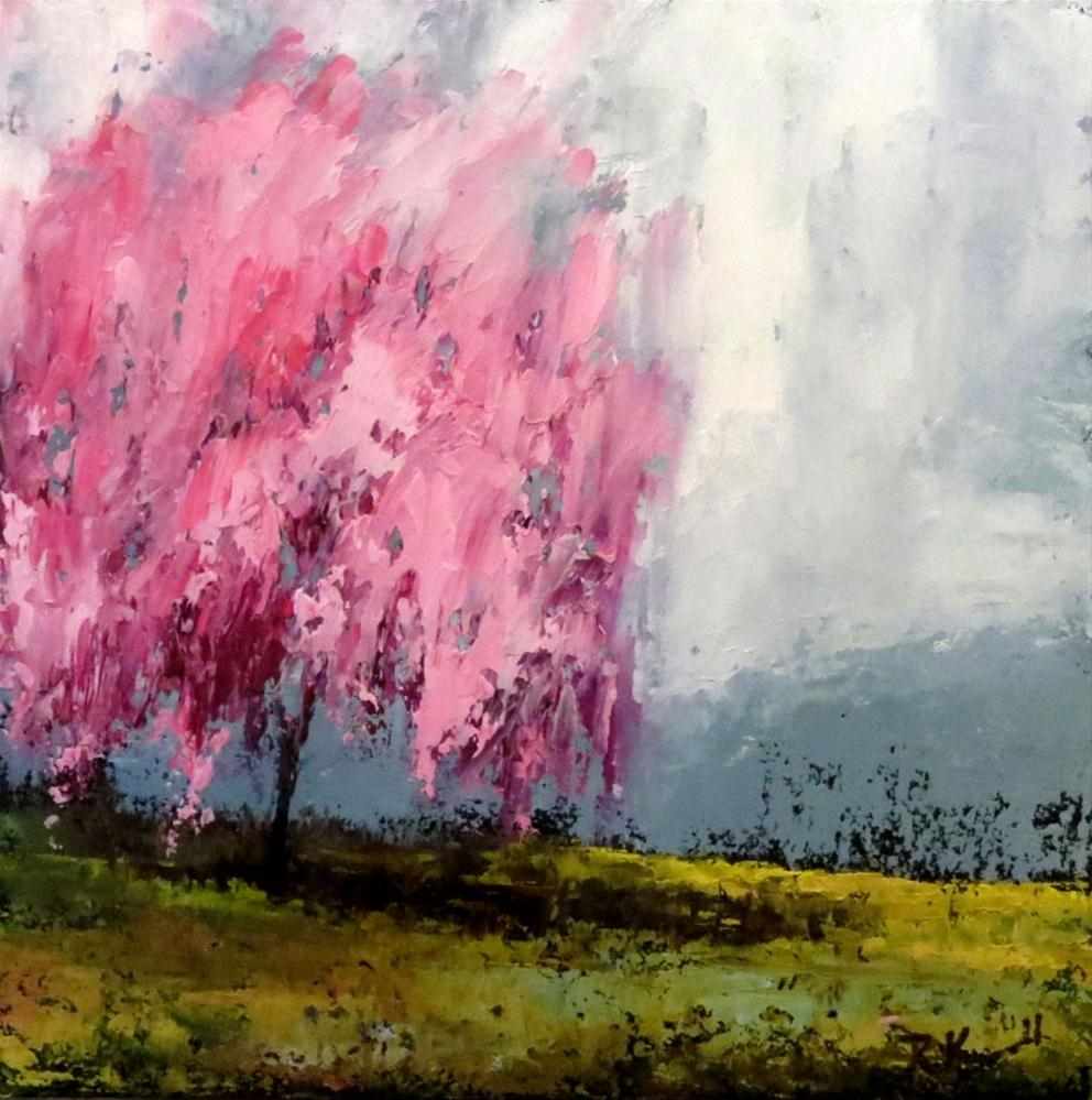 """Cherry Blossom"" original fine art by Bob Kimball"