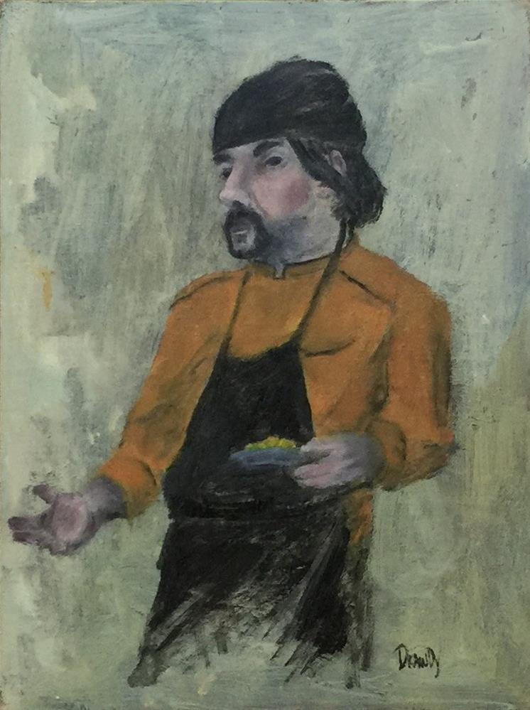 """Tuscan Chef"" original fine art by Stephanie Drawdy"