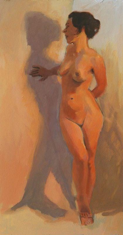 """""""Standing twist"""" original fine art by Peter Orrock"""