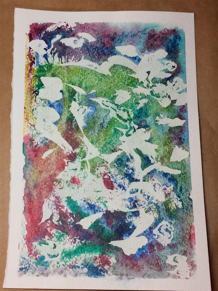 """Abstract"" original fine art by Donna Vieth"